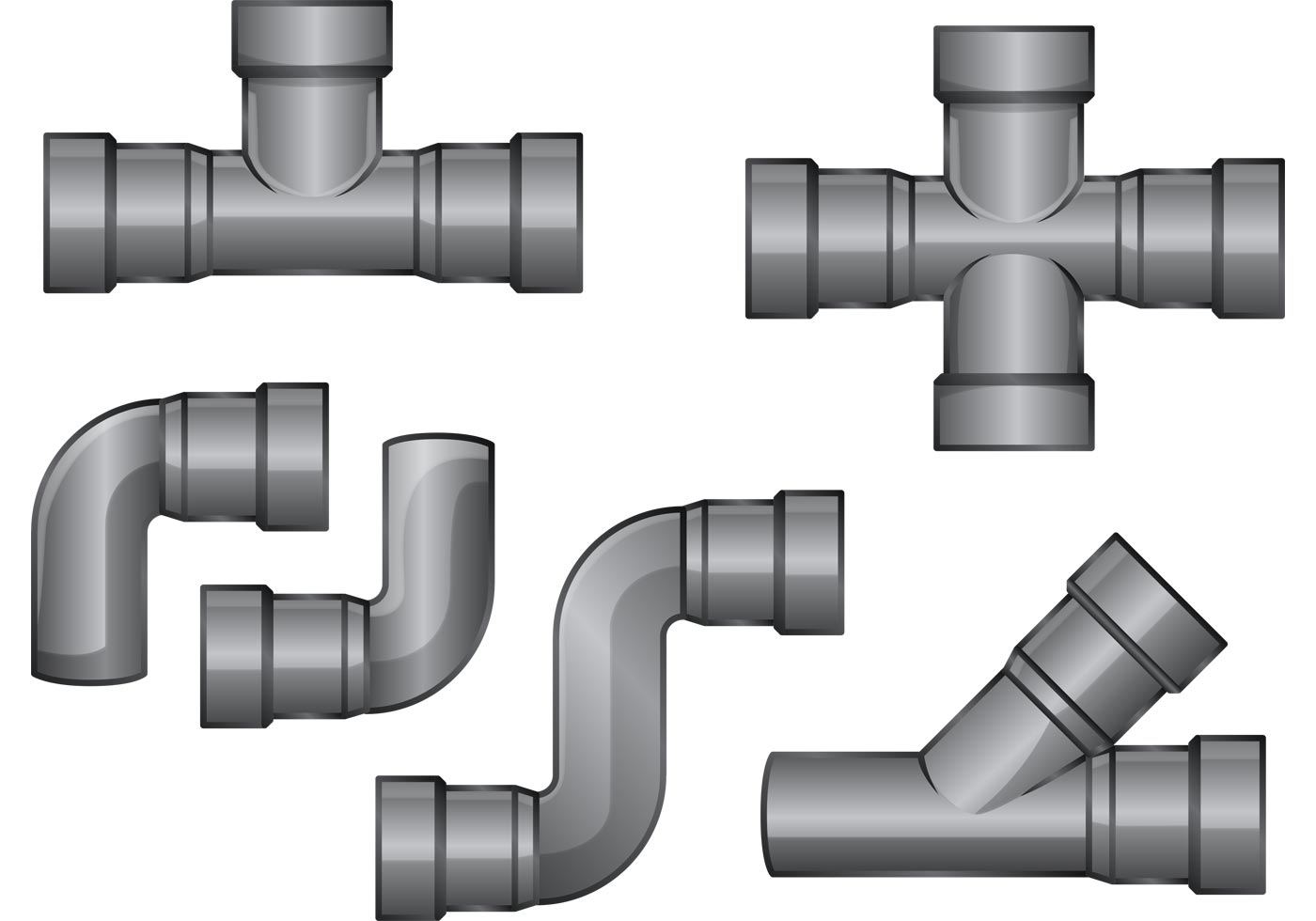 Sewer Pipe Vectors.