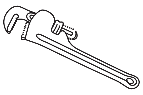 Pipe Wrench Black And White Pictures To Pin On Pinterest.