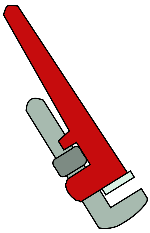Free Clipart: Pipe Wrench.