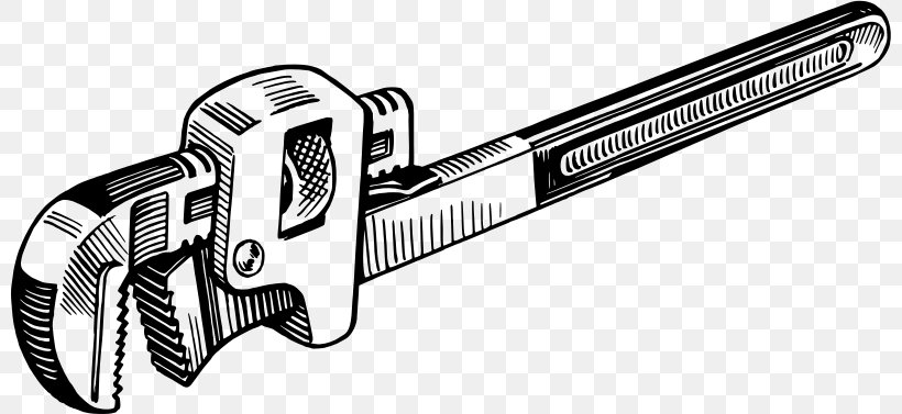 Pipe Wrench Spanners Tool Plumber Wrench Clip Art, PNG.