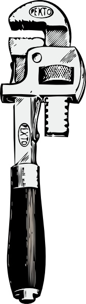 Pipe Wrench clip art Free vector in Open office drawing svg.