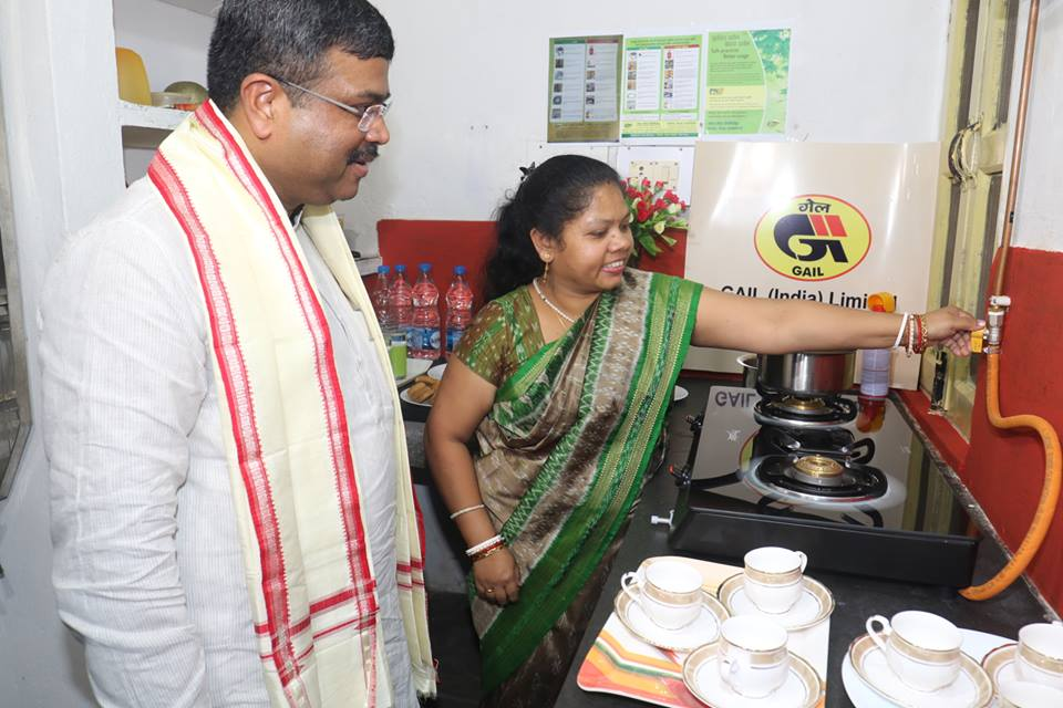 Piped gas supply to kitchens commences in Odisha.
