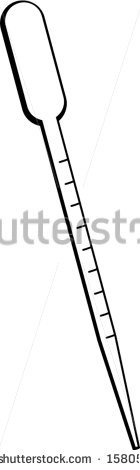 Disposable Pipette Stock Vector Illustration 158051879 : Shutterstock.