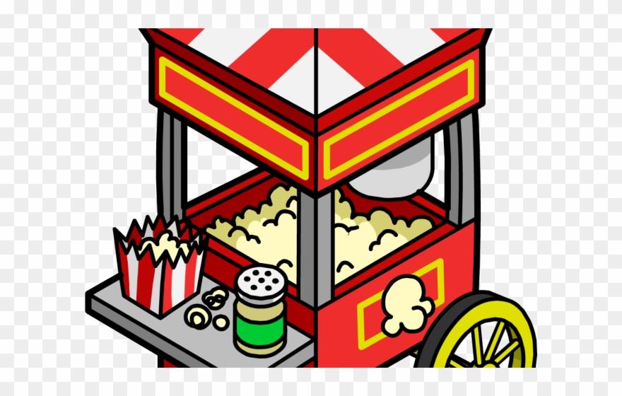 Boardwalk Clipart Popcorn Cart.