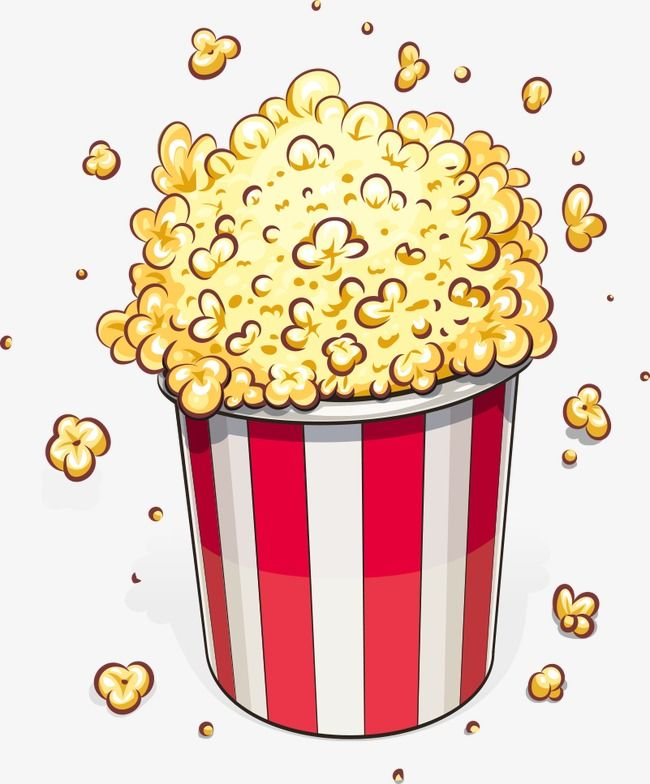 Vector Popcorn, Popcorn, Cartoon Popcorn, Food PNG.