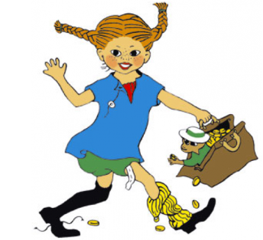 Pippi Longstocking.