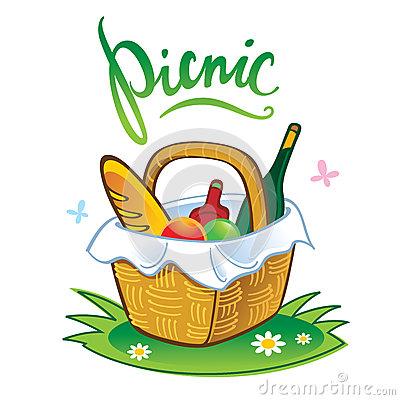Picnic Basket Stock Illustrations.