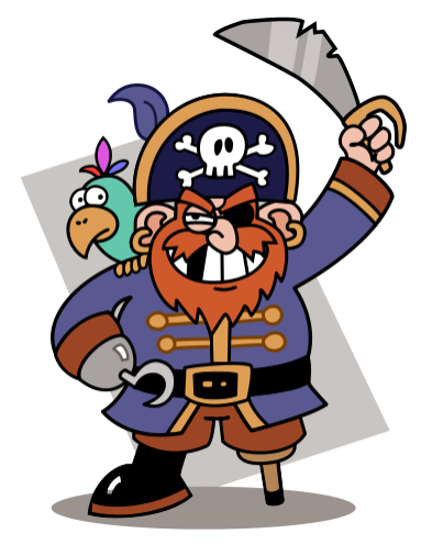 Cartoon Pirates.