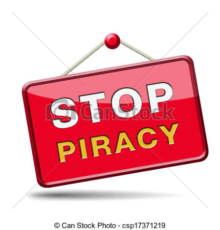 Clipart of stop piracy and illegal copying copyright and.