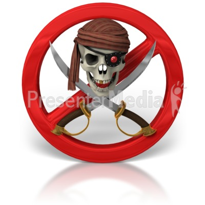 No Piracy Skull And Swords.