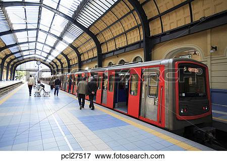 Picture of Athens, Piraeus Harbour Interior Of The Attiko Metro.