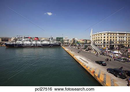 Stock Images of Athens, Piraeus Harbour, A View Of The Attiko.