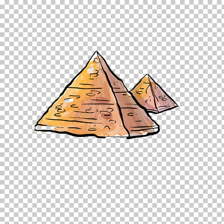 Egyptian pyramids De Piramides, Cartoon pyramid PNG clipart.