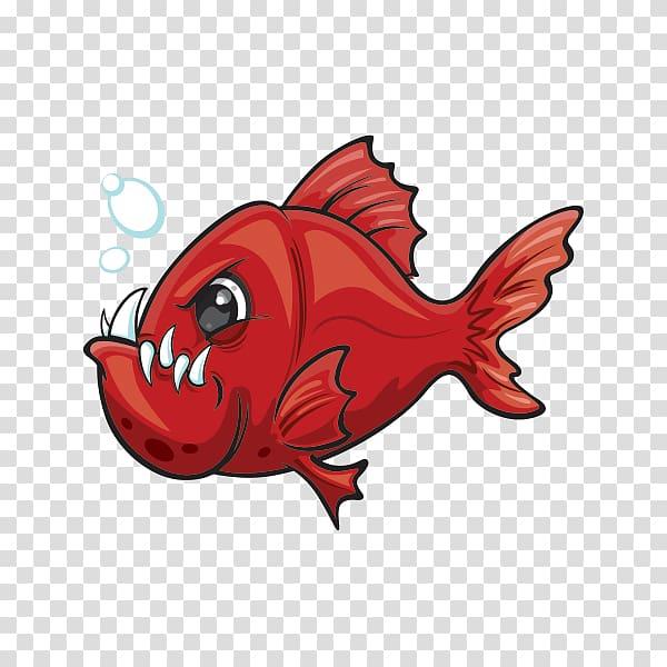 Piranha Illustration Drawing Cartoon, red snapper.