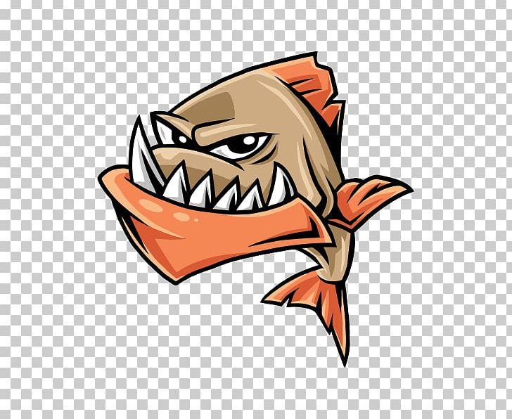 Piranha PNG, Clipart, Art, Cartoon, Fang, Fictional.