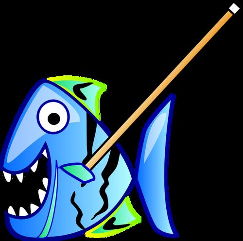 Cartoon piranha.