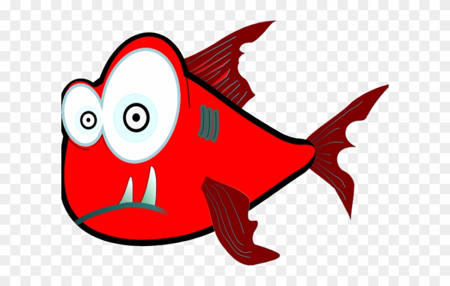 Piranha Clipart Crazy Fish.