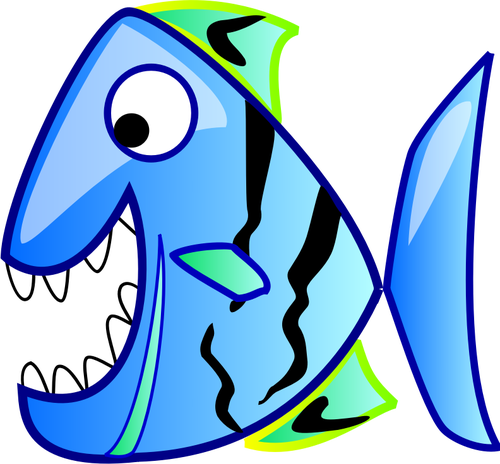 Piranha in cartoon style.