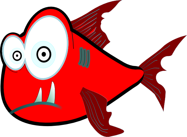 Red Crazy Piranha Very Large Clip Art at Clker.com.