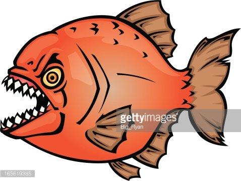 wicked piranha Clipart Image.