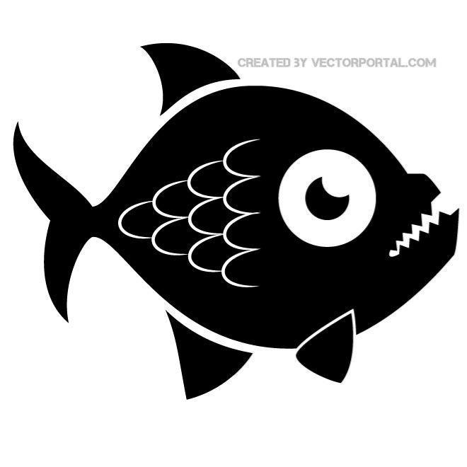 Piranha Fish Image Free Vector.