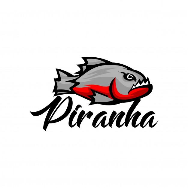Piranha logo template Vector.