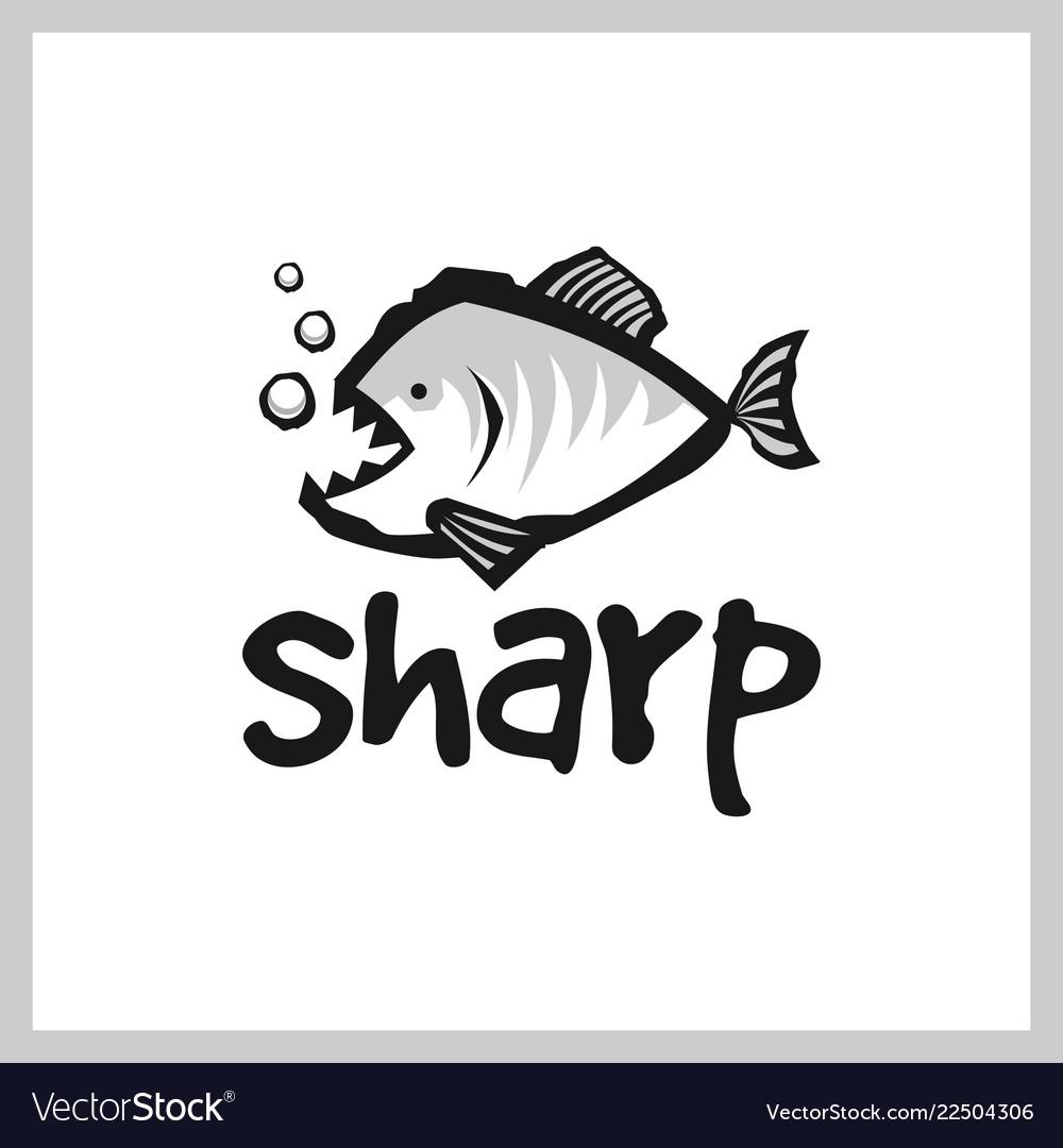 Piranha logo design.