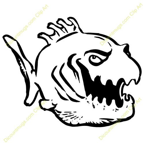 Piranha cliparts.