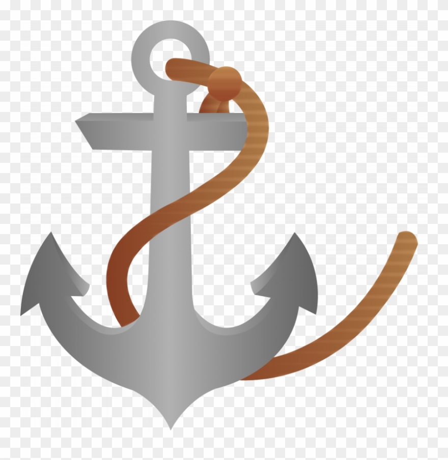 Ship Anchor Clipart With Rope Free.