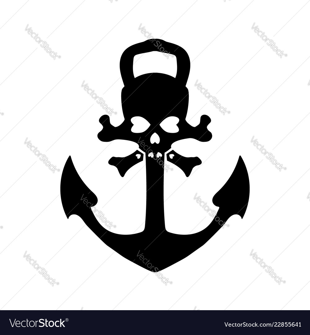 Nautical pirates anchor isolated icon ship.