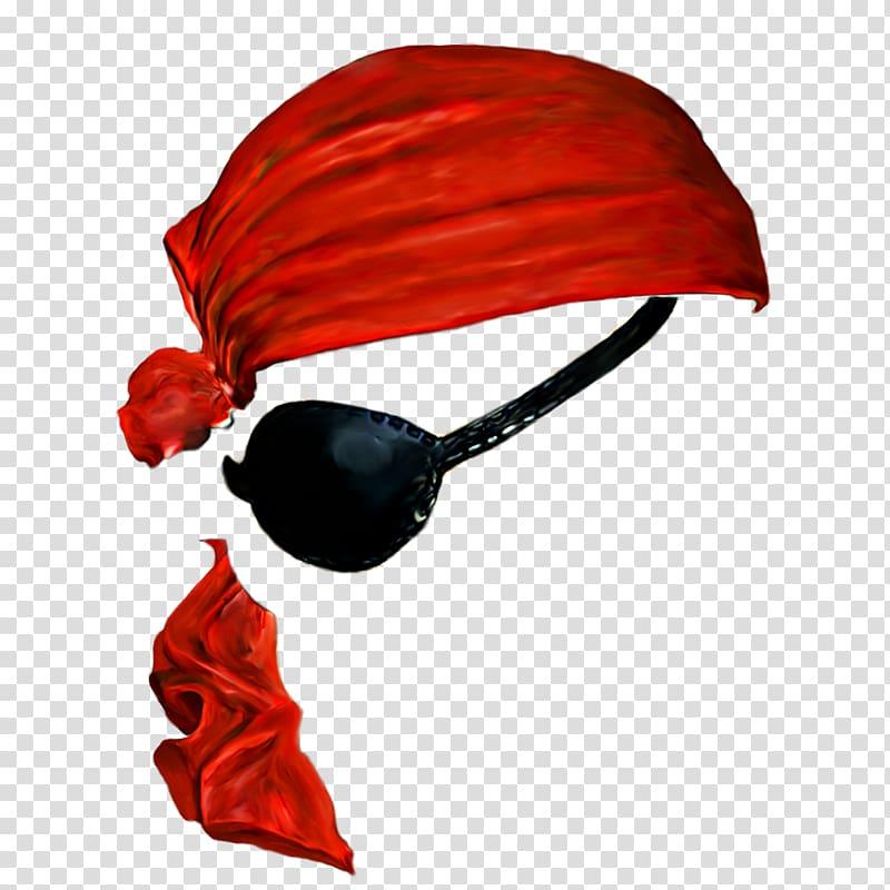 Pirate bandana and eyepatch , Jack Sparrow Piracy Icon.