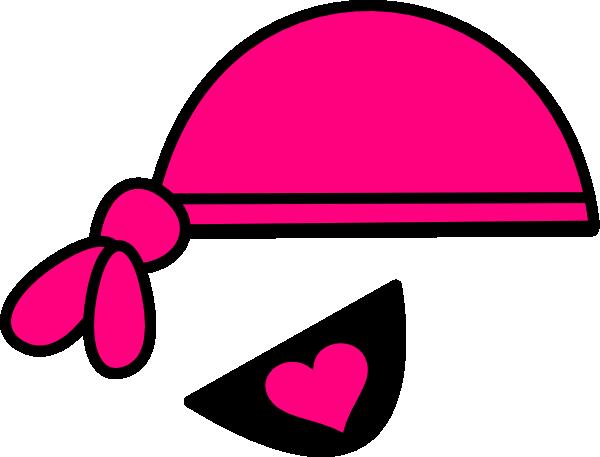 Pink Pirate Bandana & Eyepatch Clip Art at Clker.com.