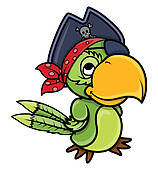 Pirate parrot clipart.