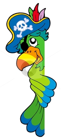Cute Pirate Parrot Clipart.