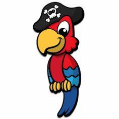 Pirate bird clipart.