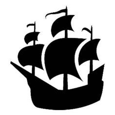 Adhesive stencil pirate ship clipart.