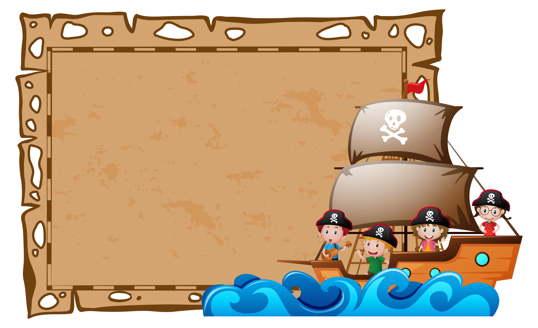 Pirate Border Free Vector Art.