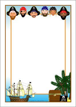 Pirates A4 page borders (SB8612).