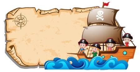 Pirate Clip Art Border.