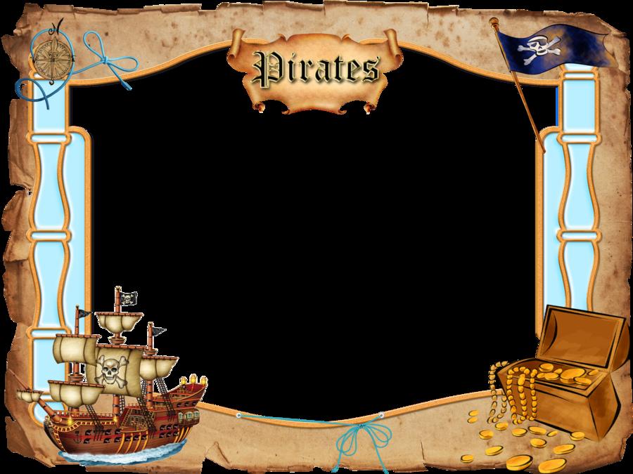 Pirate border clipart.