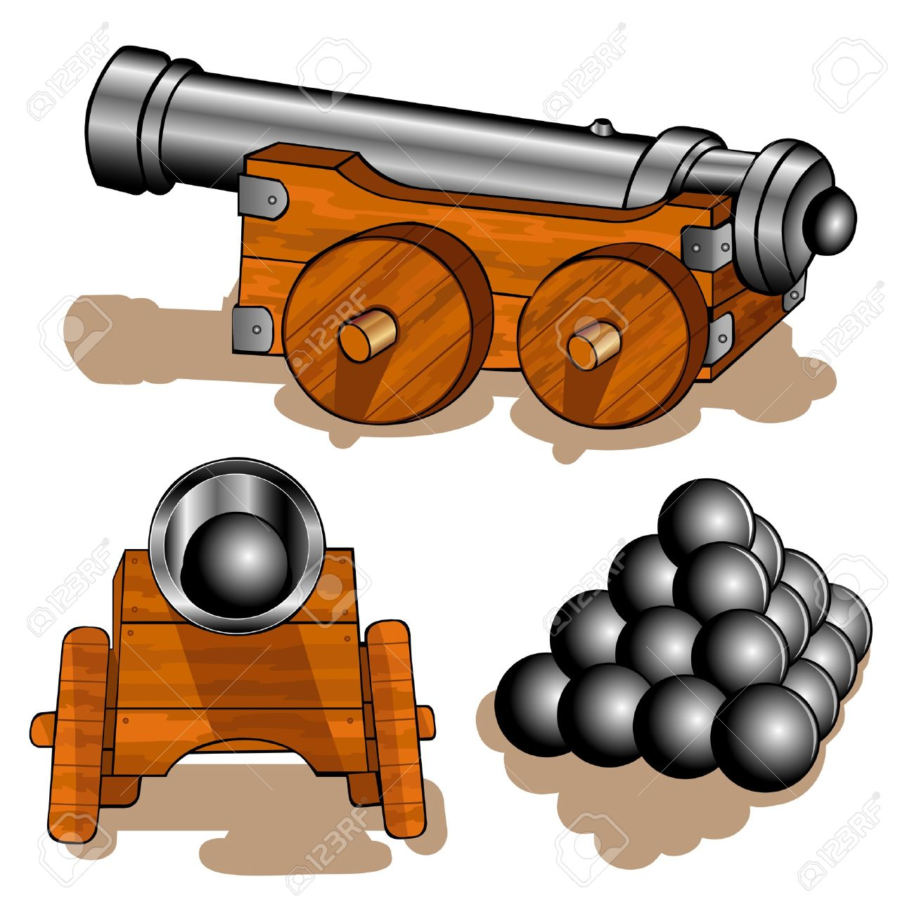 Collection of Cannon clipart.