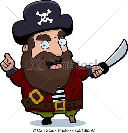 pirate captain clipart #18