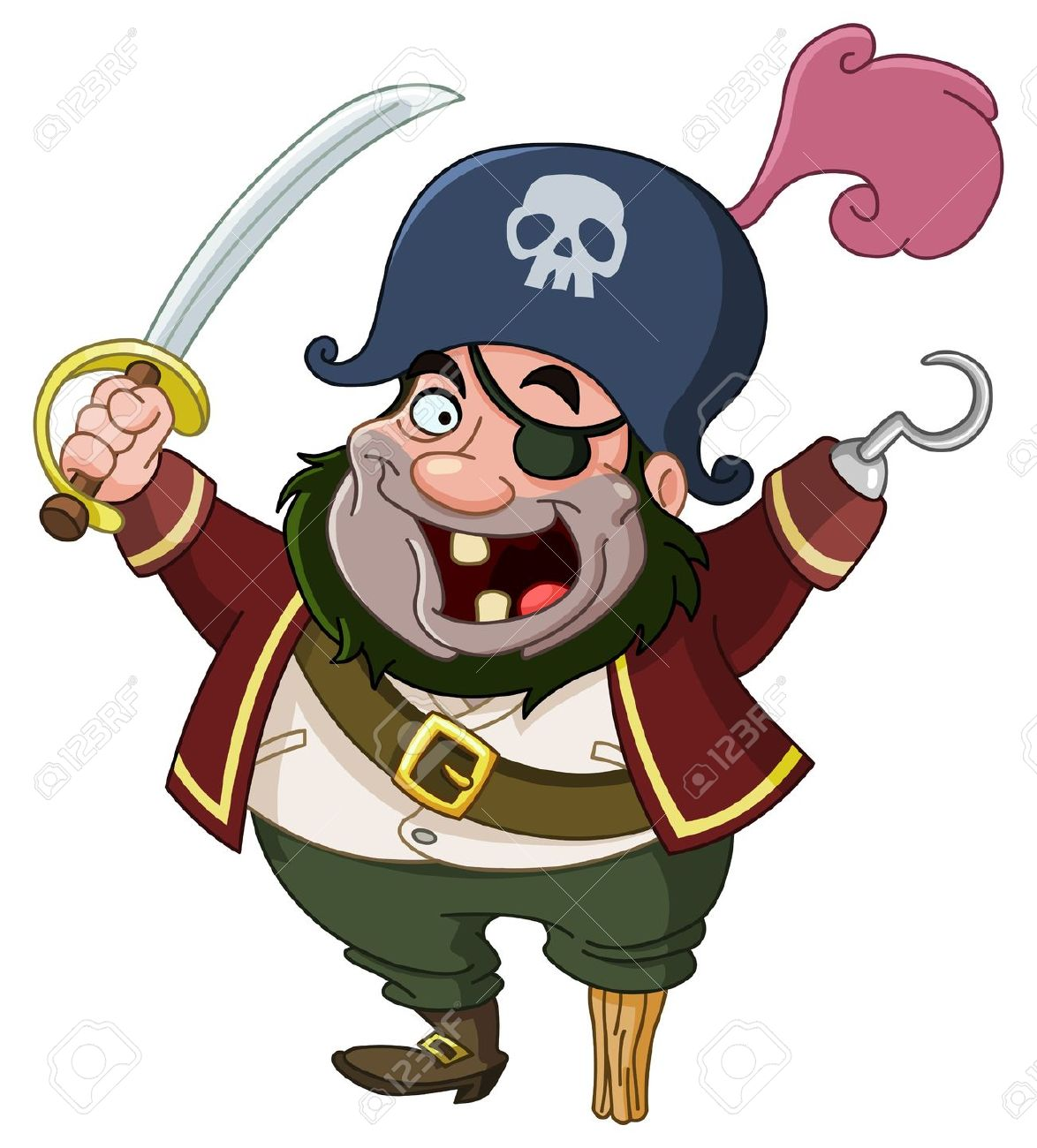 Cartoon Pirate Royalty Free Cliparts, Vectors, And Stock.