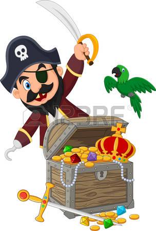 pirate captain clipart #3
