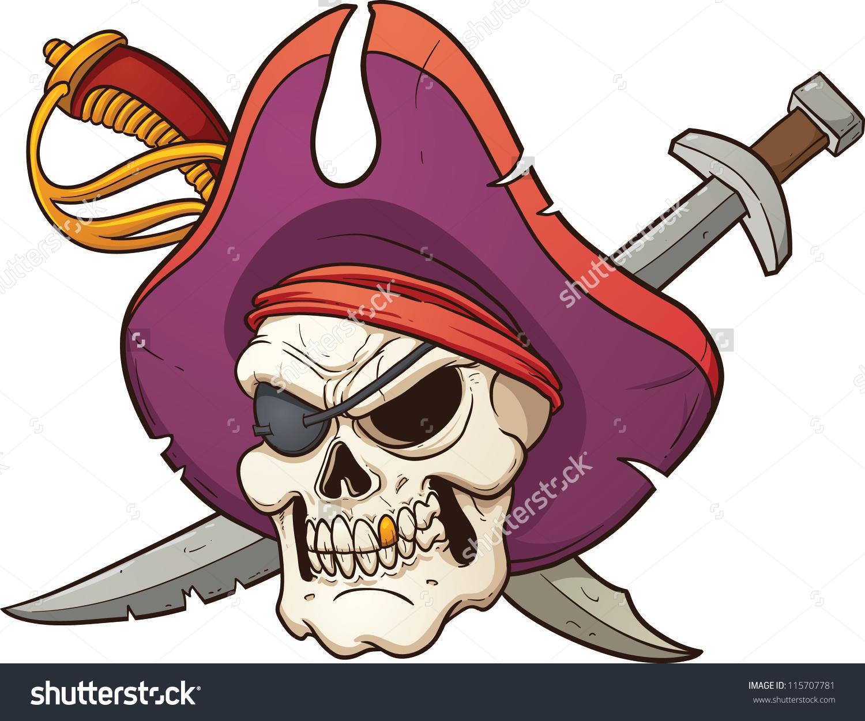 Captain Pirate Skull Vector Clip Art Stock Vector 115707781.