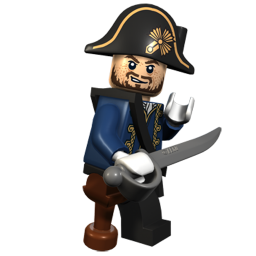 Toy Pirate Captain Icon, PNG ClipArt Image.