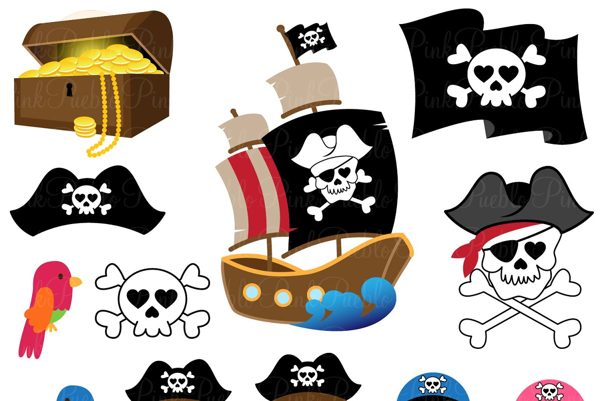 Pirate Clipart and Vectors.