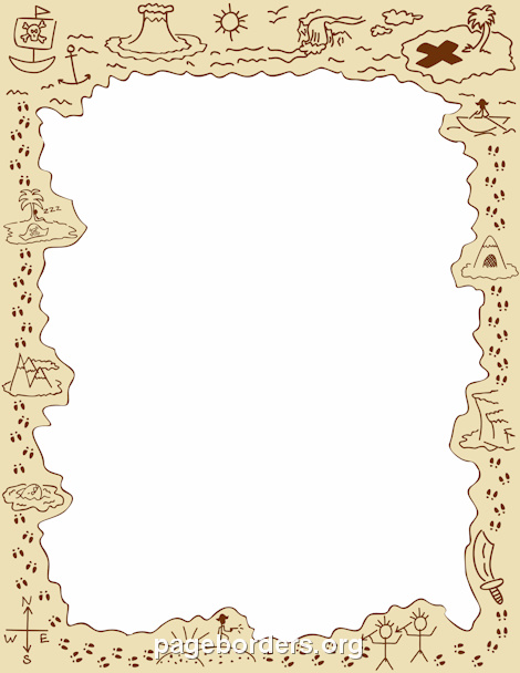 Pirate Border: Clip Art, Page Border, and Vector Graphics.