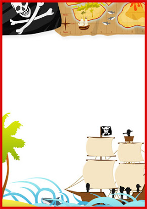 Free pirate theme borders.