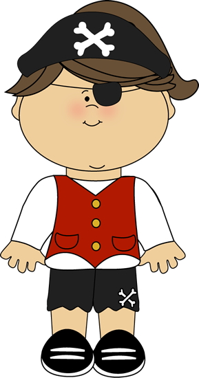 Kid Girl Pirate Clip Art.
